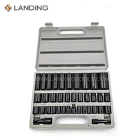 38pcs Hand Impact Socket Tool Set With Chrome Vanadium Steel