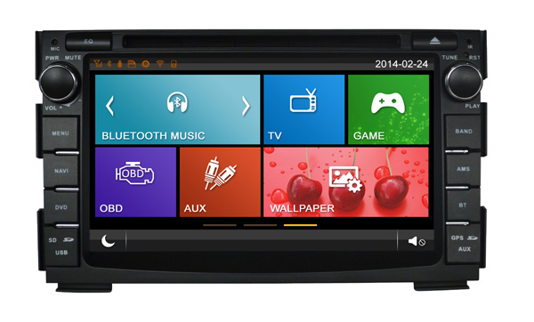 2015 hot sale high resolution with 3G&WIFI double din car dvd player gps navigation for KIA CEED