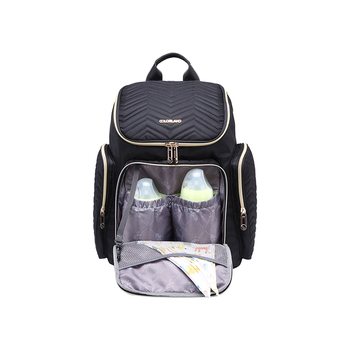 Chic mummy bag customized quilted maternity baby diaper backpack