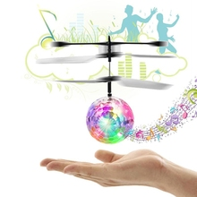 RC Flight Toy RC Flying Ball Mini Heli Drone Light Up Aircraft Helicopter Ball Built-in Shinning LED Lighting Toy for Children