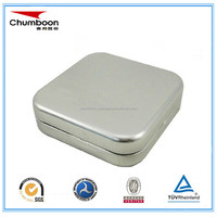 small square tin container / guangzhou factory metal box / chocolate candy packaging