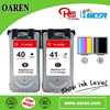 Remanufactured ink cartridge for pg 40 cl 41 compatible ink cartridge for Canon pg40 cl41