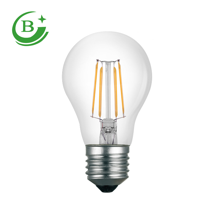 CE RoHS Approved vintage led light bulb most popular A60 6w filament led bulb