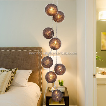 10l Warm White Led Home Decor Ideas For Bedroom Woven Ball Cotton Lights