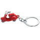 2015 best selling wholesale cute germany mini red color metal alloy vespa keychain