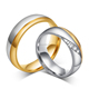 Wholesale Customized High End Titanium Promise Rings For Couples Fashion Silver Couple Rings Gemstone Ring Jewelry