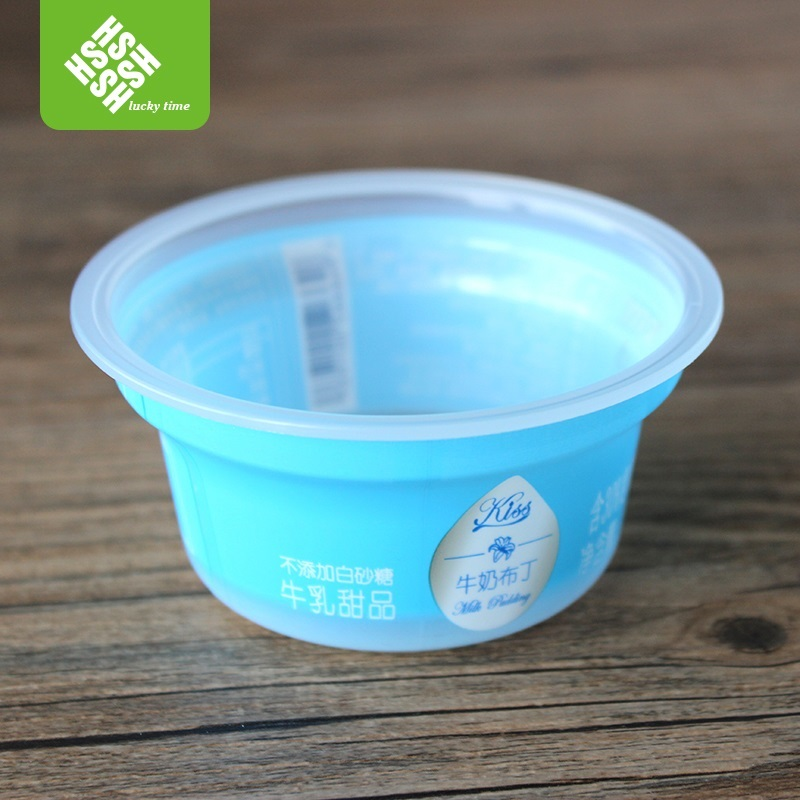 Mini Clear PP Plastic Disposable Dessert Cup with Sleeve