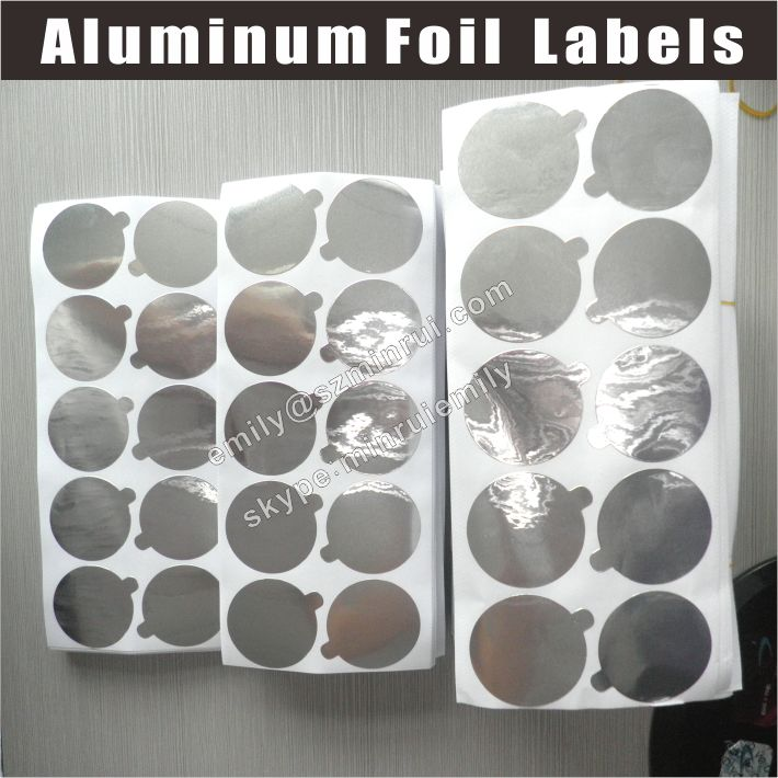 Custom Pre Die Cut Aluminium Foil Seals Stickers For