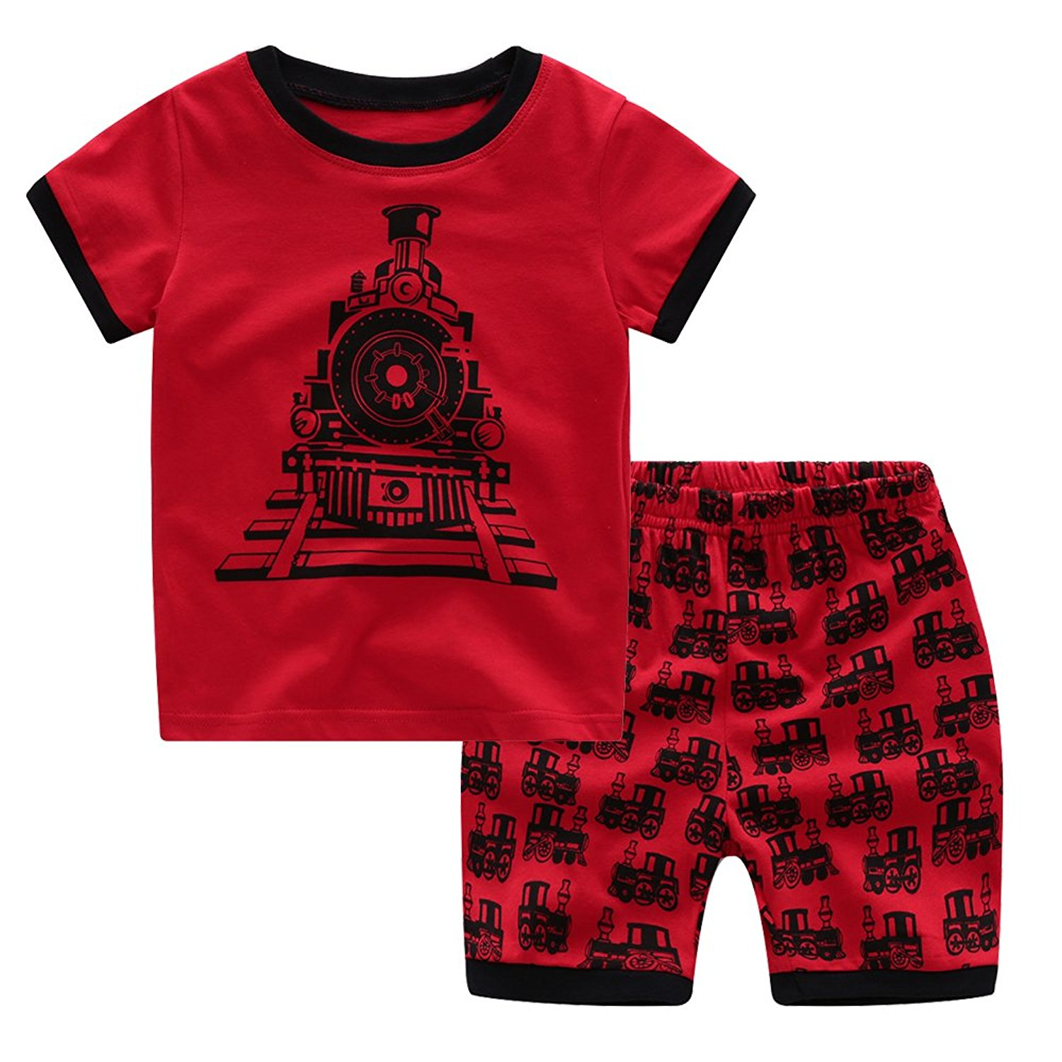 af08edf702 Get Quotations · DAYU WORLD Children s Pajamas Boys Girls Cute Sleepwear  Sets Nightgown
