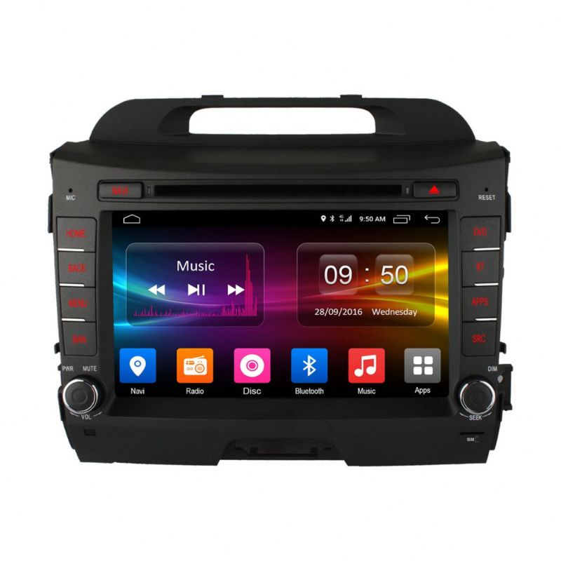double din car dvd for kia sportage Android 6.0 Octa Core Built-in WIFI DAB+ tpms pioneer dvd car stereo car audio dvd