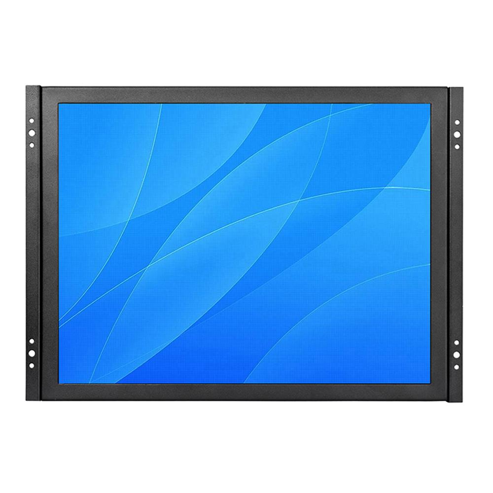 Square 15 inch high brightness VGA input 1080p open frame lcd monitor