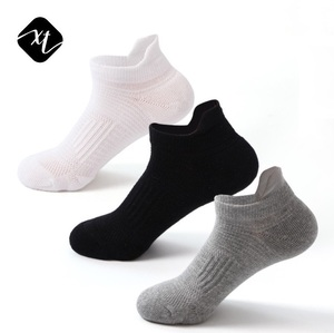 bulk wholesale cheap breathable plain low cut thick winter sports mens athletic running socks