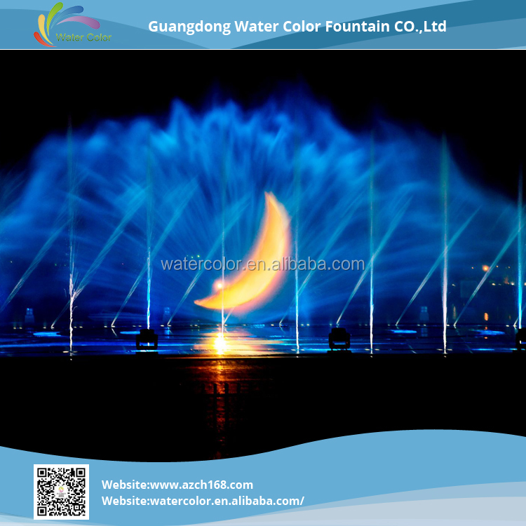 Musical Dancing Fountain LED lighted Water Screen For Projector In The Sea