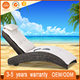 holiday hotel patio used commercial sleeping chaise lounge beach furniture round rattan wicker woven barcelona daybed