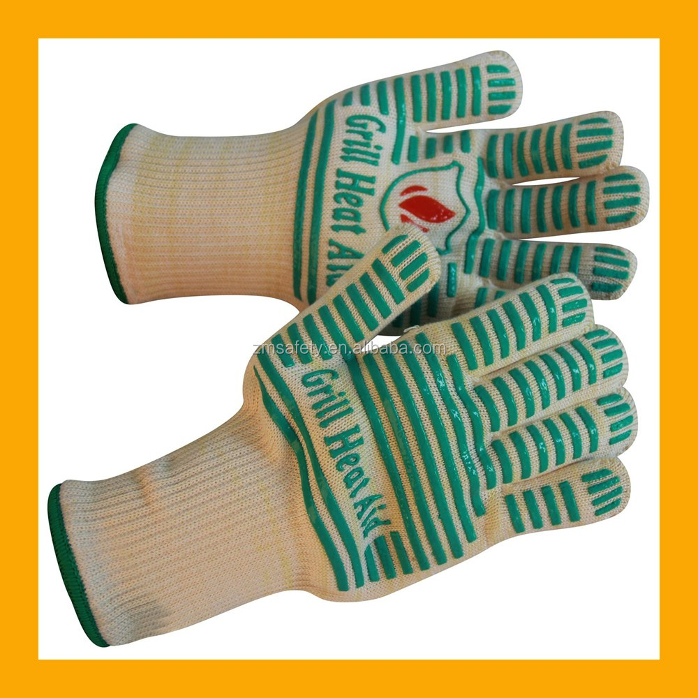 Meta Aramid Fibers Griller Bbq Gloves Replace Oven Mitts With ...