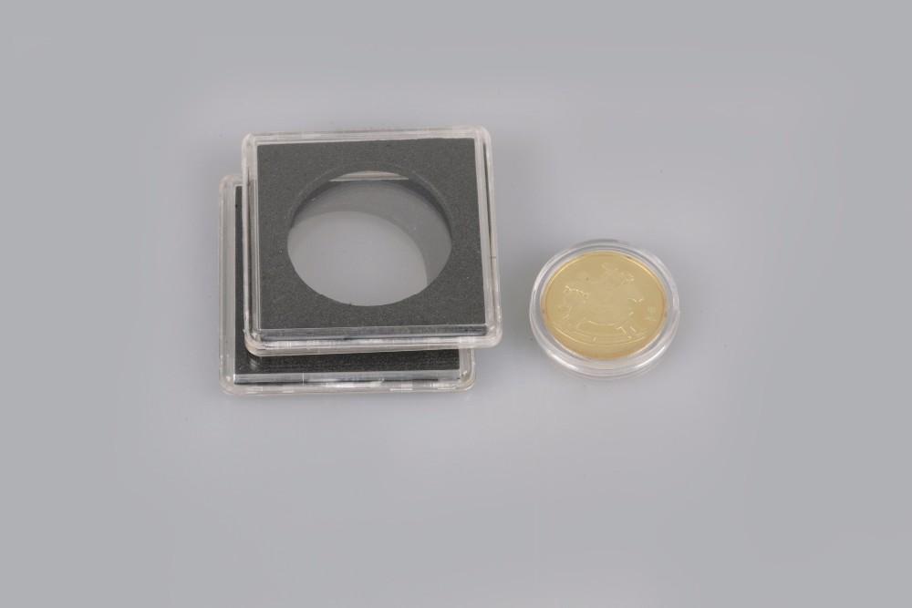 Hottest Sale Acrylic Clear Plastic Single Coins Box Pccb