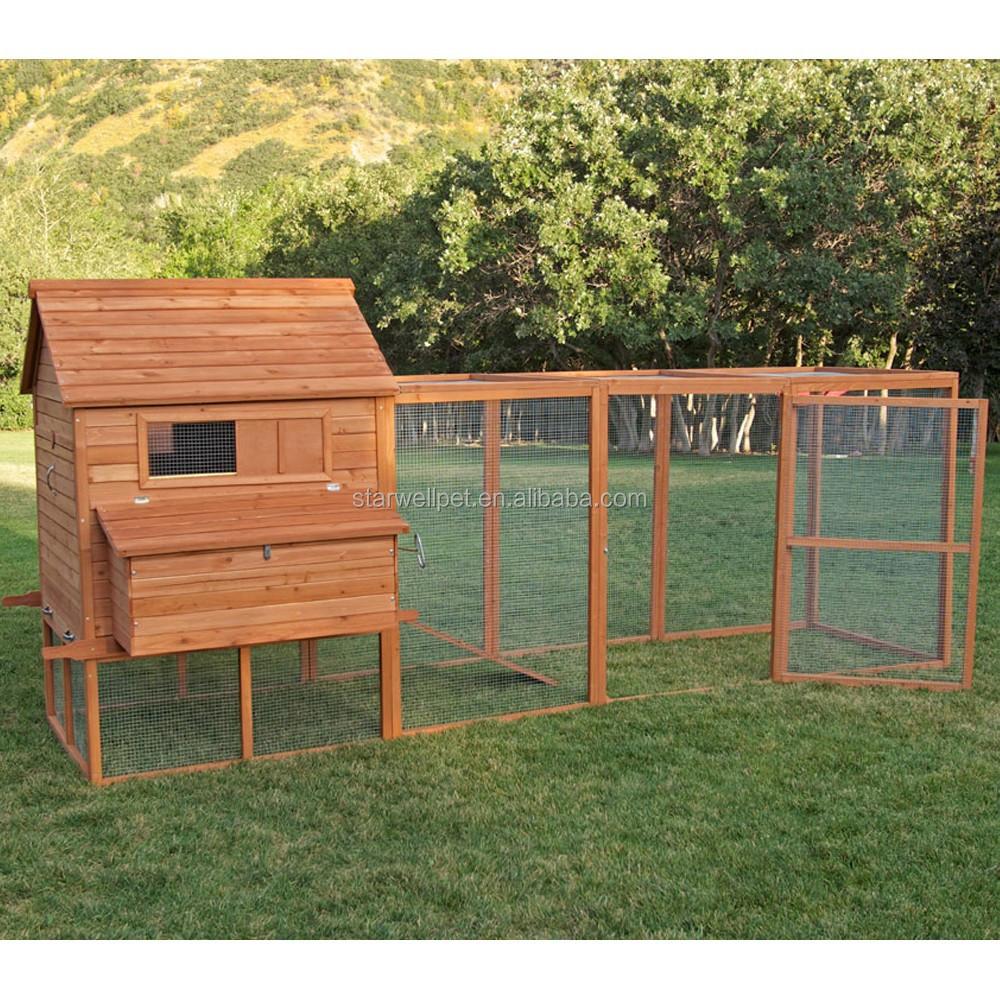 Fabricaci n de exportaci n directamente barato gallinero de madera con gran corrida para - Casas para gallinas ...