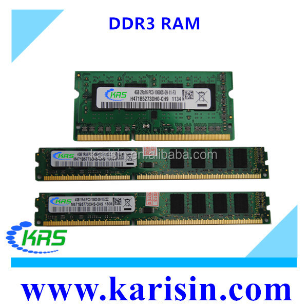Brand new bulk packing ddr3 4gb desktop/laptop ram used ram pack box