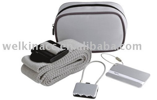 Travel Security Kit With Polyester Bag