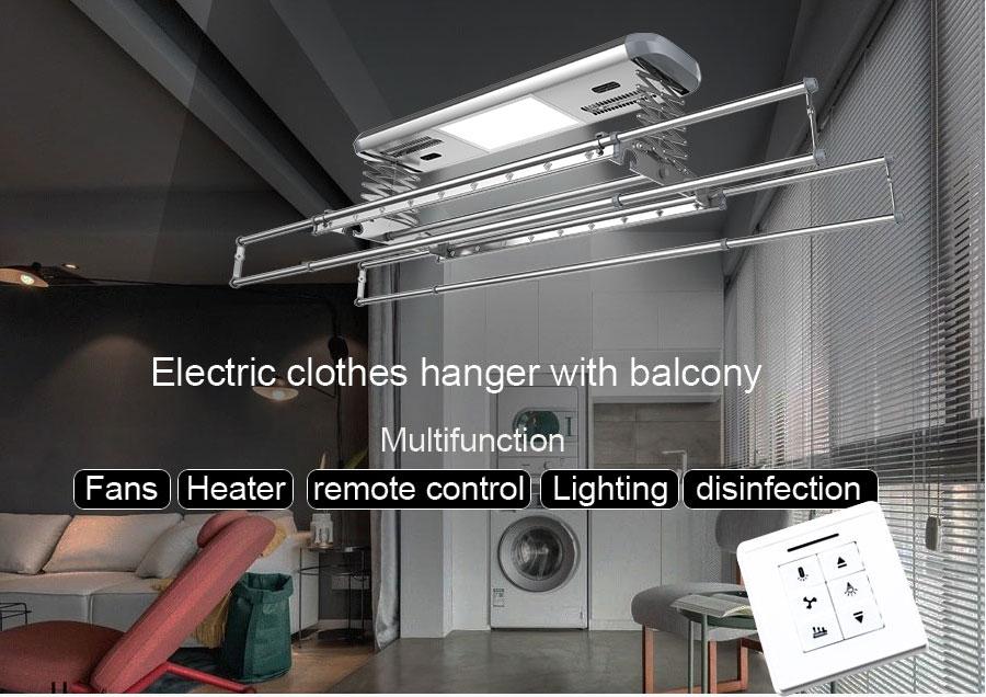 Wäsche trockner decke auto elektrische aluminium kleidung trocknen kleiderbügel rack mit fan