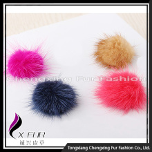 CX-A-07 Fur Decoration Colourful Genuine Mink Fur Ball