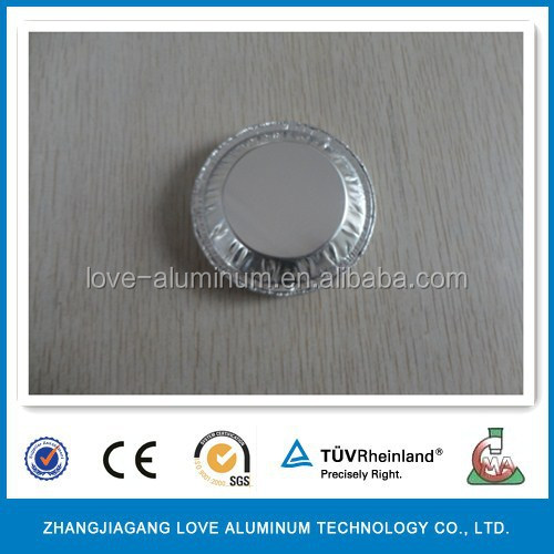 High Quality Round Food Grade Egg Trat Aluminum Foil Cup