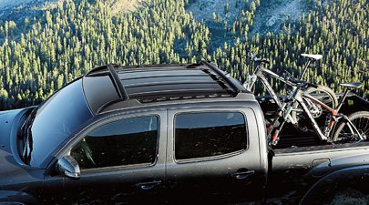 Genuine Toyota Tacoma Roof Rack PT278-35170. Black Stowable Roof Rack. 2012-2018 Tacoma 4 Door Double Cab.