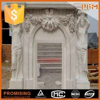 natural material onyx fireplace surround