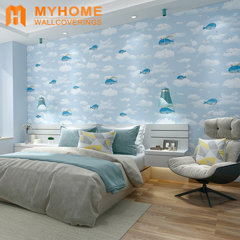 Cartoon Non Woven Wallpaper For Kid Room