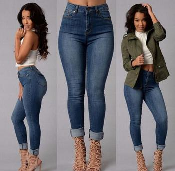 36bf7b46d10 z81644B sexy woman denim jean fabric ladies jeans trousers top design