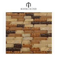 best price natural well polished marble and glass mosaic tiles