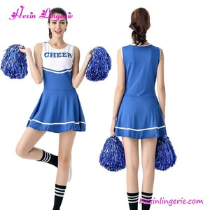 High Quality 5 Colours Women Halloween Glee Cheerleader Costume