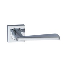 Zinc alloy fancy external double exterior chrome front door handles