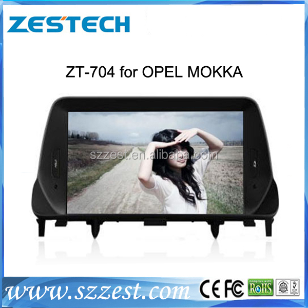 ZESTECH brand new OEM Car dvd player for Opel mokka Car radio with SIM car with gps bluetooth TV tuner