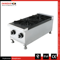 CHINZAO Brand Stainless steel 2 Burners Gas kitchen appliances stoves For Sale