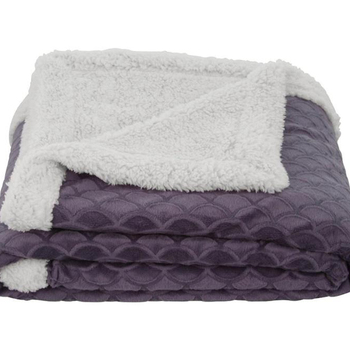 luxury double layer mink blanket custom embossed flannel fleece blanket