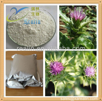 COA certified High quality Silymarin 80% Natural Milk Thistle Extract powder