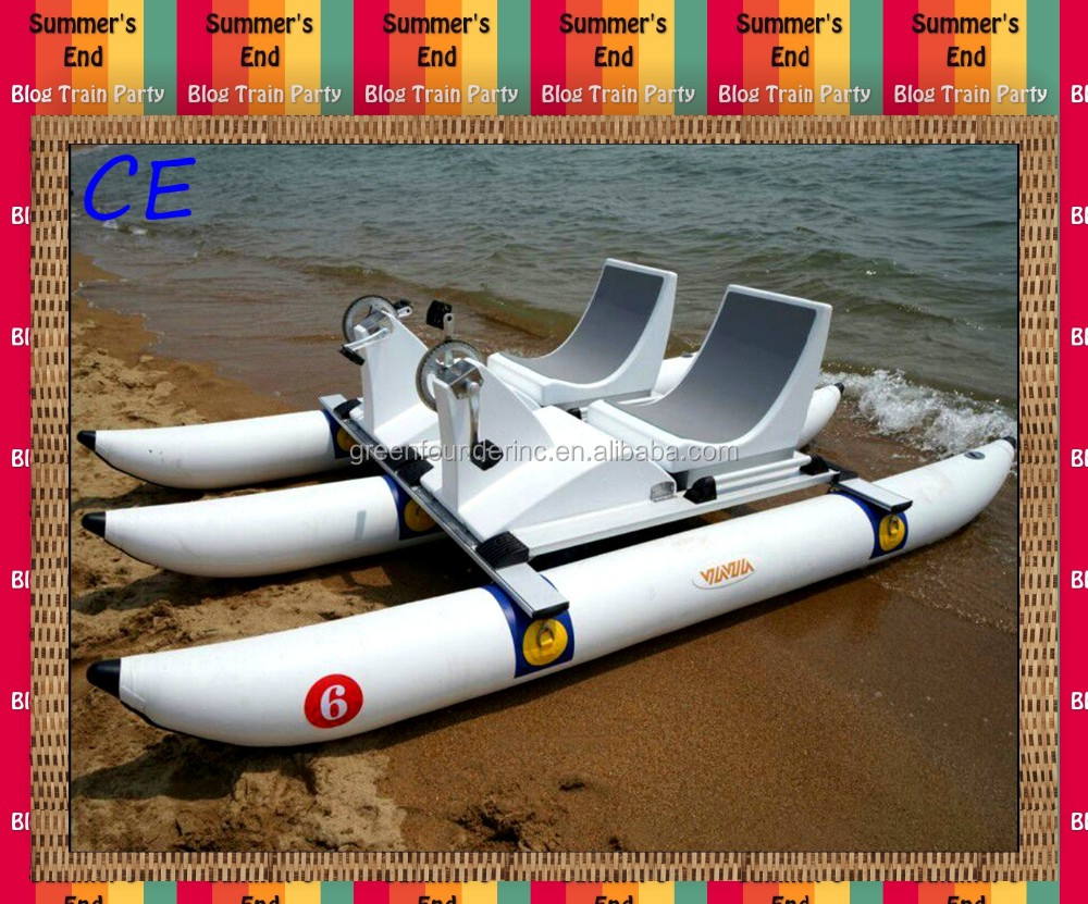 CE pontoons tubes pedal boats Sofa Pedal Boats with inflatable PVC pontoons