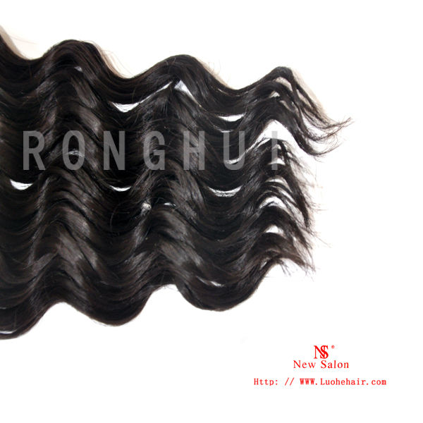Attractive 5A grade no shedding virgin Indian deep wave 100% human hair extesnion,prompt shipping