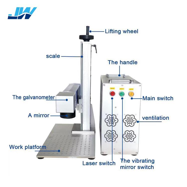 laser source Raycus 20w 30w split laser marking machine for jewelry