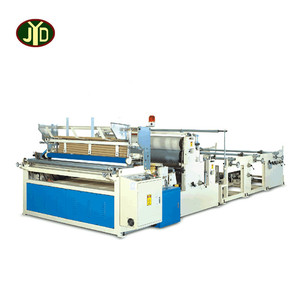 automatic electrical motor toilet paper tissue rewinding machine for making rolling paper
