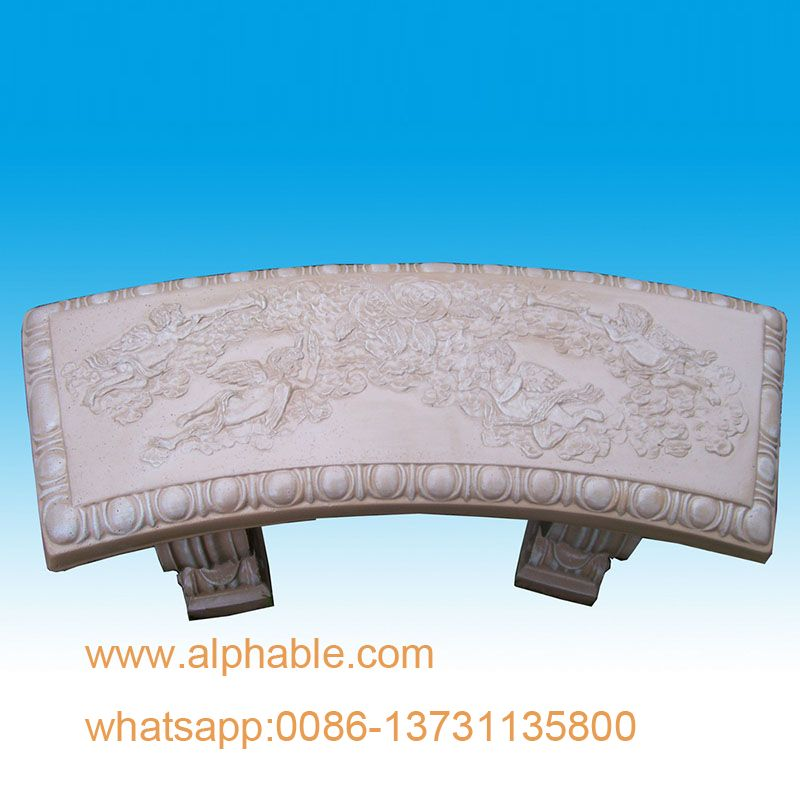 Hot Sale Hand Carving Stone Garden Bench
