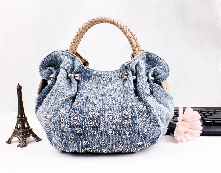 Get Quotations Free Shipping Fashion Las Jeans Cowboy Handbag Women S Denim Shoulder Bag Branded