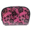 Lace pvc cosmetic bag ,makeup pouch with zippers