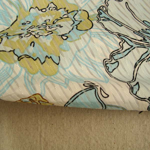 T Shape Stylish Polyester Spun Upholstery Floral French Print Sport Fabric