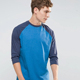 Three-quarter length sleeve double color stitching plain t shirts