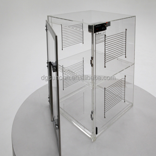 Fashionable clear acrylic jewelry displays box with lock