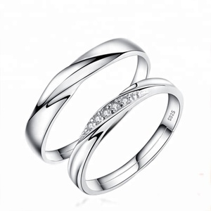 Top Selling Twist Couples Jewelry 925 Silver Ring Switzerland Copper Diamond Ring