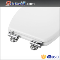 Soft close stainless steel hinges for heavy toilet seat