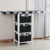 Factory Supplying folding wooden ironing board with storage lockers